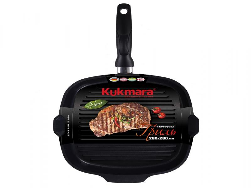 Frying Pan grill Kukmara, Tradition, 28*28 cm цена