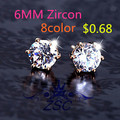 NE464 2016 New Fashion Round Favorite Design 18 K Gold Plated Studded Candy Crystals CZ Diamond Stud Earring For Women