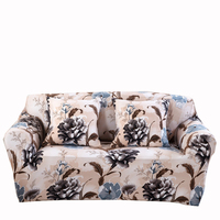 Polyester Universal Stretch Couch Sofa Covers Flowers Elastic Corner Sofa Slipcovers Loveseat Removable Slipcovers For Home