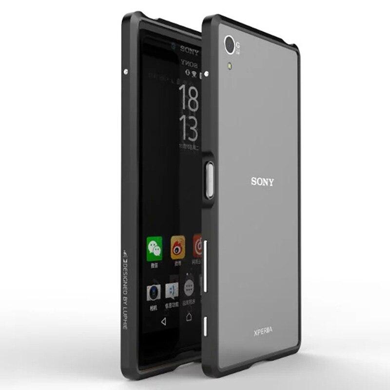 bilder für Für sony xperia z5 premium bumper ultra thin aluminium rahmen luxus case für sony xperia z5 premium/xz handy abdeckung
