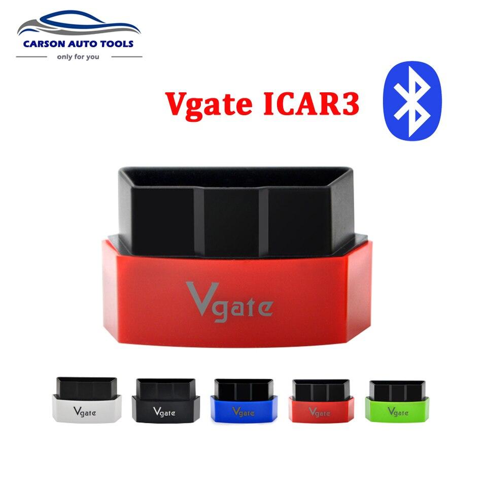 Prix pour Nouvelle Arrivée Vgate ELM327 Bluetooth iCar 3 OBDII ELM327 iCar3 Bluetooth Vgate OBD Interface De Diagnostic