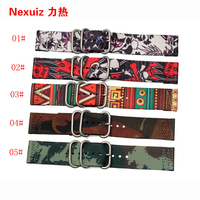 National Wind Accessories For Men And Women 20mm 24mm Nylon Watch Strap Sports Watch Band Waterproof