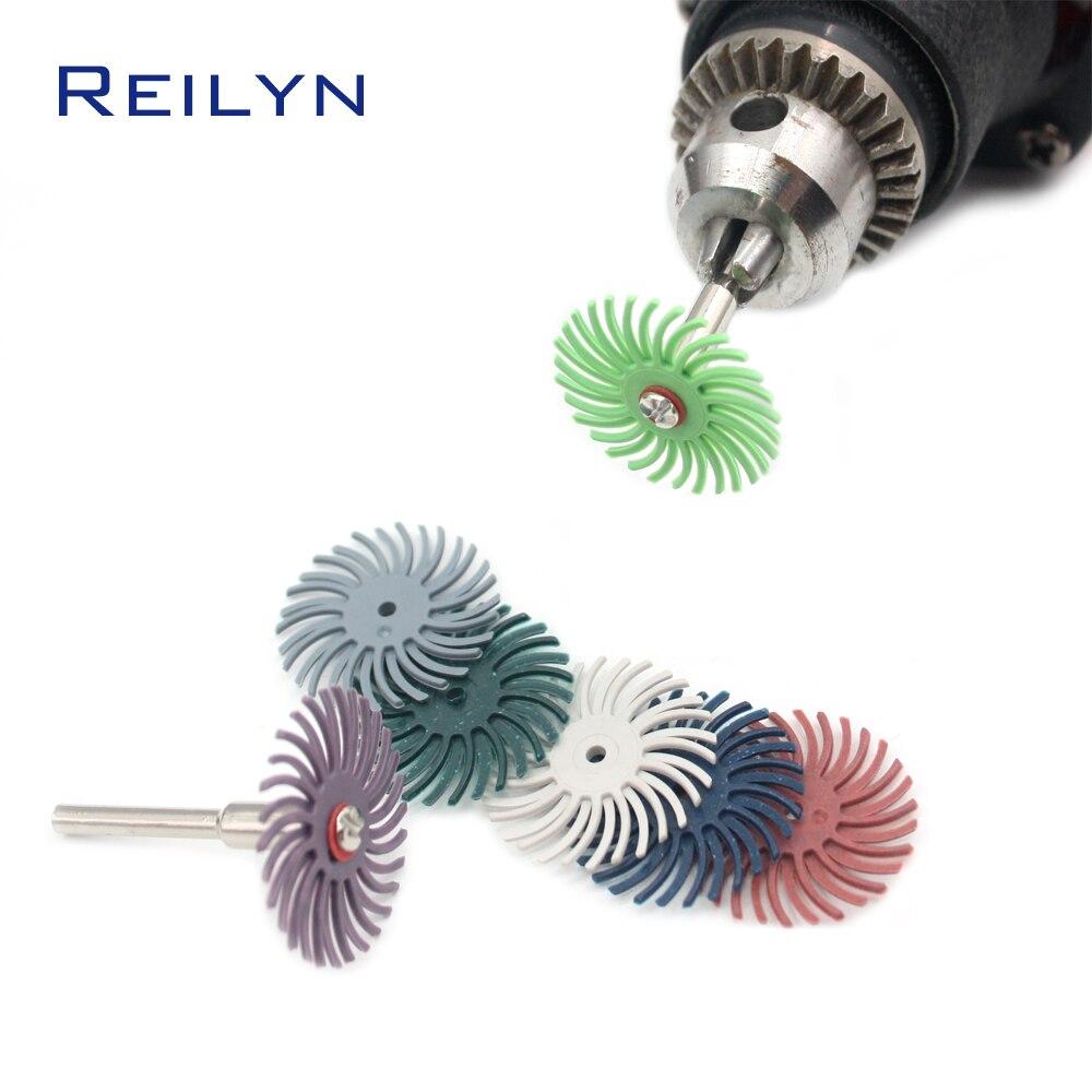 Free Shipping 9 Pc Rubber Polishing Wheel Polishing Head Disc Rubber Polishing Roller Narrow-gap Wheel Gap