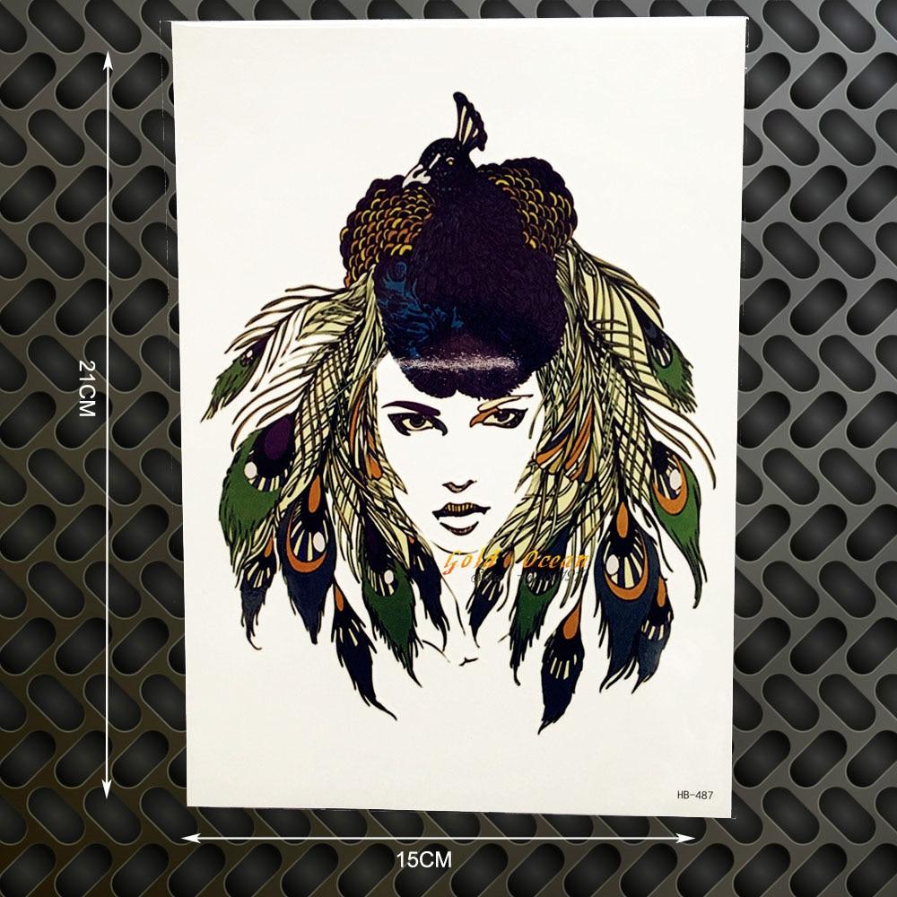 ⊱1 unid reina Pavo Real Plumas cabeza mujeres flash 3D extraíble ...