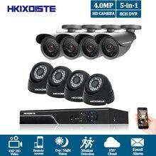 HKIXDISTE 4mp CCTV Surveillance Kit 4mp Security Camera System 8ch DVR 4MP 2K Video Output Kit CCTV Easy Remote View on Phone