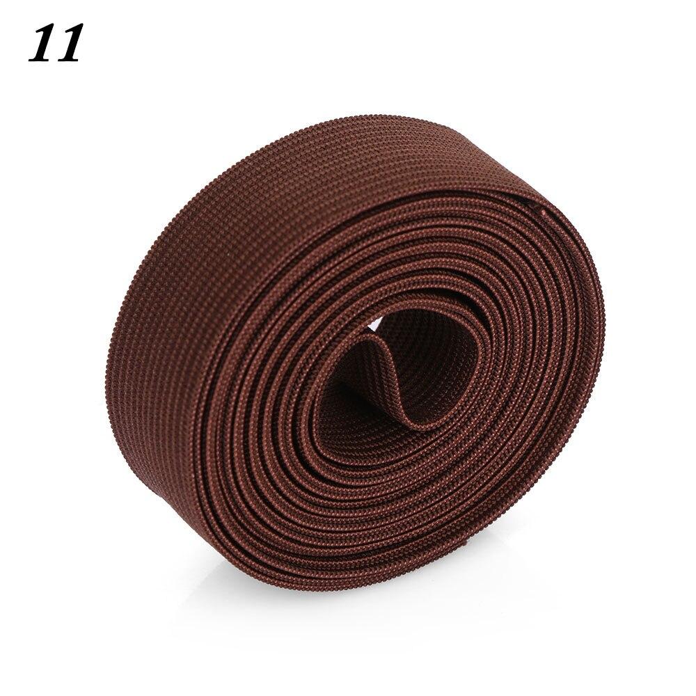 2 м/рулон многофункциональная эластичная лента плотная плетеная резинка из полиэстера шитье из кружева отделка ленты для талии аксессуары для одежды домашний текстиль - Цвет: 11
