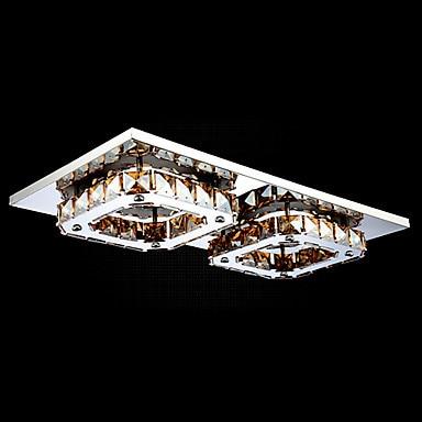 Stainless Steel Modern LED Crystal Ceiling Lights Lamp For Living Room Bedroom Lustre De Cristal Free Shipping modern led crystal ceiling light for living room lamp stainless steel