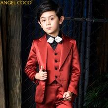 цена на Children's Suit Set Blazer Boys Suits For Weddings Costume Enfant Garcon Mariage Kids Blazers Prom Suit Terno Infantil 3T 16T
