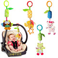 Baby Crib Stroller Cot Buggy Pram Car Seat Revolving Hanging Cute Animals Frog Elephant Cat Soft Rattles Dangle Toy