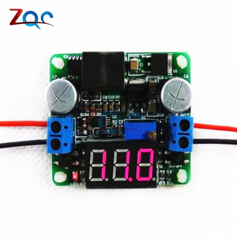 25W 2A DC 5-25V 12V to 0.5v-25V 24V Voltage display DC-DC Adjustable Step up down Power Supply Module boost and buck converter 5pcs mt3608 dc dc adjustable boost module 2a boost plate 2a step up module with micro usb 2v 24v to 5v 9v 12v 28v lm2577