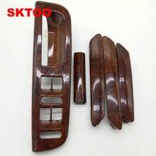 SKTOO 5 шт./набор красное дерево внутри дверные ручки поручни встряхнуть декоративное покрытие для Vw passat B5 высокое качество заводская цена