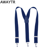 AWAYTR 110cm Men Suspensorio Tirantes Adjustable Braces for Men Women Wedding Party Supports For Pants Business Casual Straps