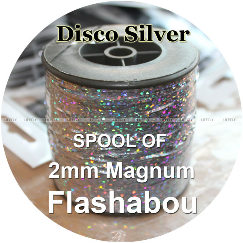 9 Colors 18 Packs Flashabou Holographic Tinsel Flash Fly Tying