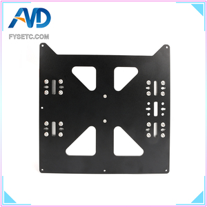 Image 2 - Aluminum Y Carriage Anodized Plate With SC8UU pgrade Prusa i3 V2 Hot Bed Support Plate For Prusa i3 RepRap DIY 3D Printer parts