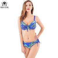 New Sexy Swimwear Triangular Bikini Set Steel Push Up Hot Springs Swimsuit Show Slim Plus Size