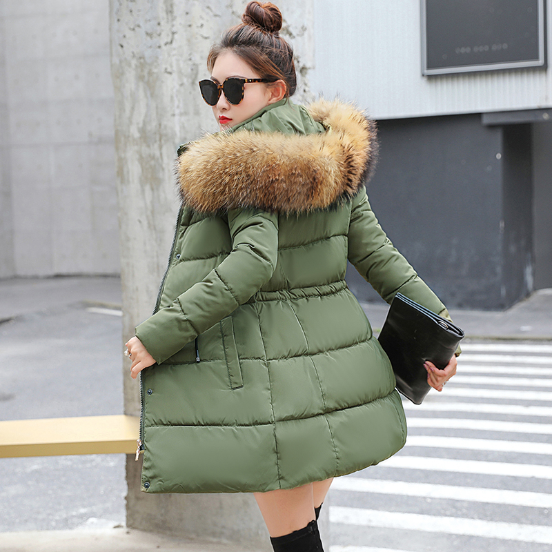 7a33d890d6d Detail Feedback Questions about 2019 New Fashion Long Winter Jacket Women  Slim Female Coat Thicken Parka Down Cotton Clothing Red Clothing Hooded  Student on ...