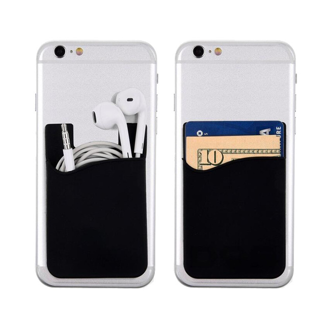 brand new d0651 72ad5 US $1.79 10% OFF|Phone Case Cell Phone Back Cover Holder Wallet For Credit  Card, Business Card & Id for iPhone Android Smartphones(Pack of 2)-in ...