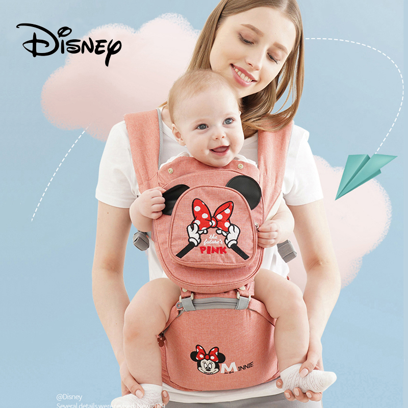Disney Baby Carrier Ergonomic Toddler Backpack Hipseat For Newborn Baby Backpacks Kangaroos Breathable Front Facing Carriers-in Backpacks & Carriers from Mother & Kids
