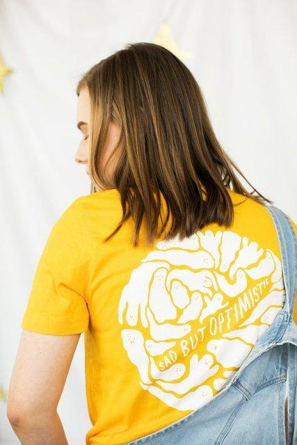 40d6ac16d Ghost spirit graphic funny yellow t-shirt women fashion slogan unisex  casual cotton tees grunge