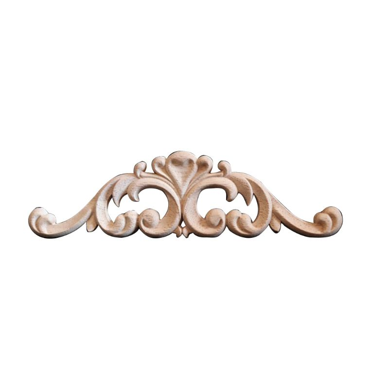 Woodcarving Decal Corner Frame Appliques Furniture Wooden Carved Decoration Retro Figurines Craft For Closet Doors  Qiang