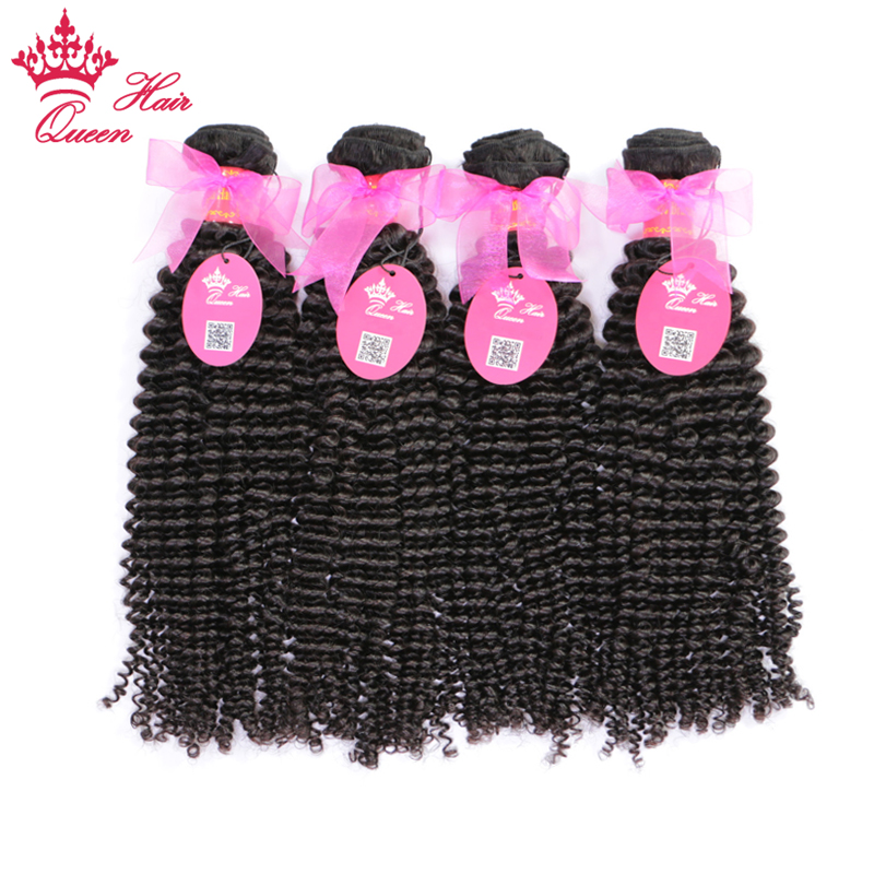 Queen Hair Brazilian Kinky Curly 100% Human Hair Weave Bundles 4pcs/lot Natural Color Remy Hair Bundle Deals Free Shipping