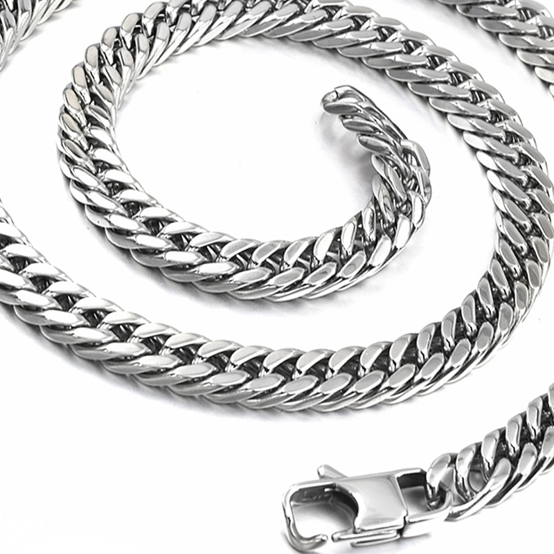 9//11//13//16mm Heavy Gold Stainless Steel Curb Cuban Men/'s Chain Necklace Bracelet