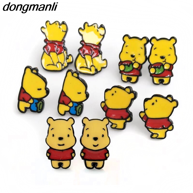 P903 Dongmanli protection is not allergic enamel cute Bear Korea personality fashion all ...