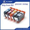 5 pcs PGI520 CLI521 PGI-520 CLI-521 cartucho de tinta Compatível para PIXMA IP3600 IP4600 IP4700 MP540 MX860 MX870 MP550 MP560