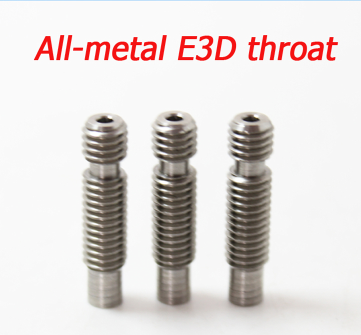 3D j-head extruder Heat Break Hotend all metal Throat M6 M6 For 1.75 mm/3.0mm Filament Stainless Steel 3D Printer запчасти для принтера 3d printer accessories feed nozzle throat m6 20mm 10pcs 3d ultimaker 3 3d m6 20 3d printer feed throat ultimaker printheads for 3mm supplies