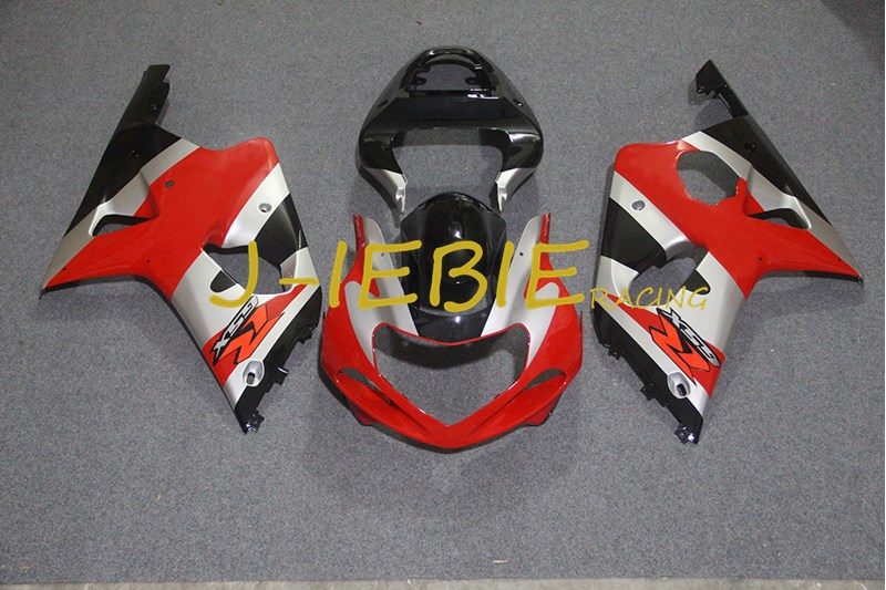 Black silver red Injection Fairing Body Work Frame Kit for SUZUKI GSXR 1000 GSXR1000 K1 2000 2001 2002