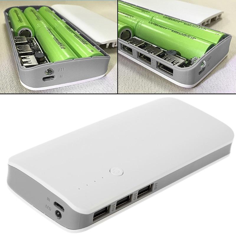 5V 2.1A 3 USB Power Bank зарядное устройство, плата, Повышающий Модуль + 5X 18650 Li-Ion чехол, DIY Kit