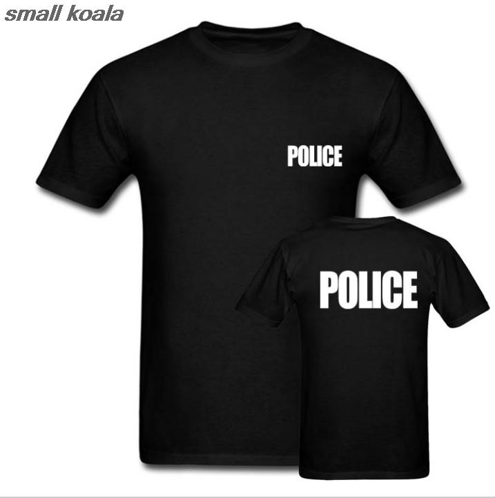 POLICE T-SHIRT Sheriff Event Bouncer Party Guard Police T Shirt Cool Tops Tee Shirts Euro Size