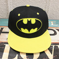 2017 Cartoon accessories hip pop hat Batman black yellow cap girls boy cool baseball hat friend gifts CA281