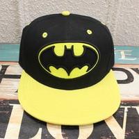 2016 Cartoon Accessories Hip Pop Hat Batman Black Yellow Cap Girls Boy Cool Baseball Hat Friend