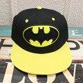 2017 acessórios chapéu hip pop cap Batman preto amarelo Dos Desenhos Animados meninas menino legal chapéu de basebol presentes amigo CA281