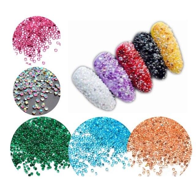 3D Микро Алмазный Rhinestone 14000 шт./упак. DIY Кристалл Плоской Задней Красочные Аксессуары Украшения Искусства Ногтя Инструмент 12 Цвет для Выбора
