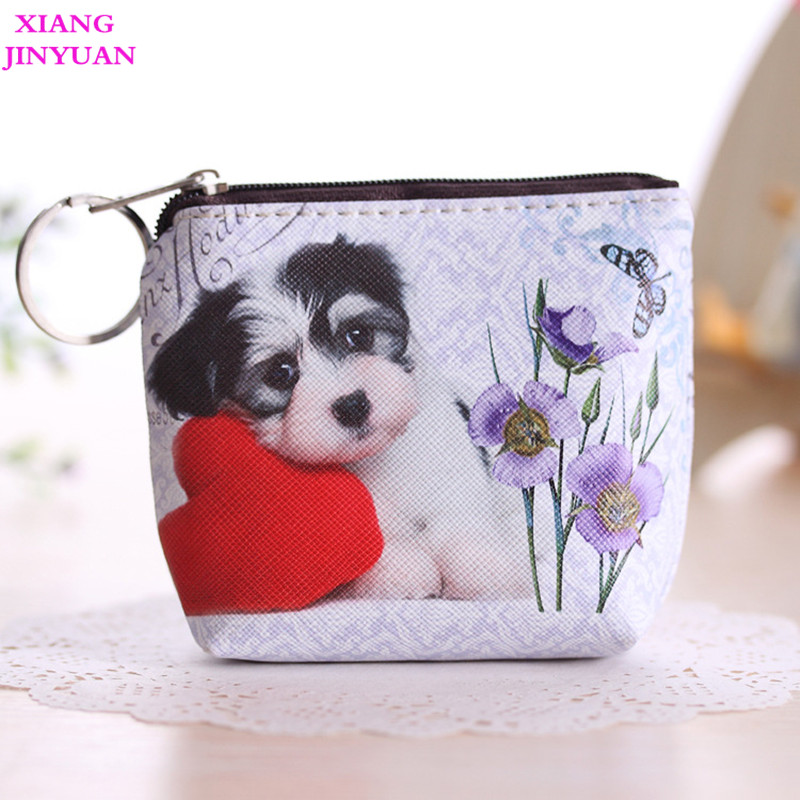 2018 Spring New Cute Cartoon Kids Wallet Girls Korean Animal Dog Cat Coin Purse PU Zipper Mini Bag Practical Kids Zipper Pouch new cute 3d animal face zipper case cat coin purse female wallet bolsas child purse makeup buggy bag pouch bolsa feminina