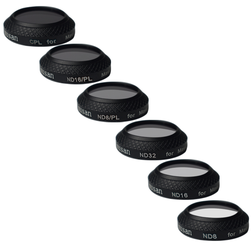 6 Pieces CPL ND8 ND16 ND32 ND8 PL ND16 PL Filter Kit for DJI Mavic Pro Drone Quadcopter Mavic Pro Accessories with carrying box