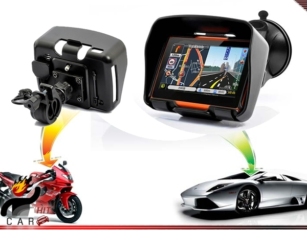 Motorcycle Bike 4.3 Inch Motorcycle GPS Navigation System- Waterproof, 4GB, Bluetooth