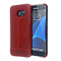 Pierre Cardin Authentic Leather Genuine Leather Vintage Fundas Cover Case For Samsung Galaxy S7 S7 Edge