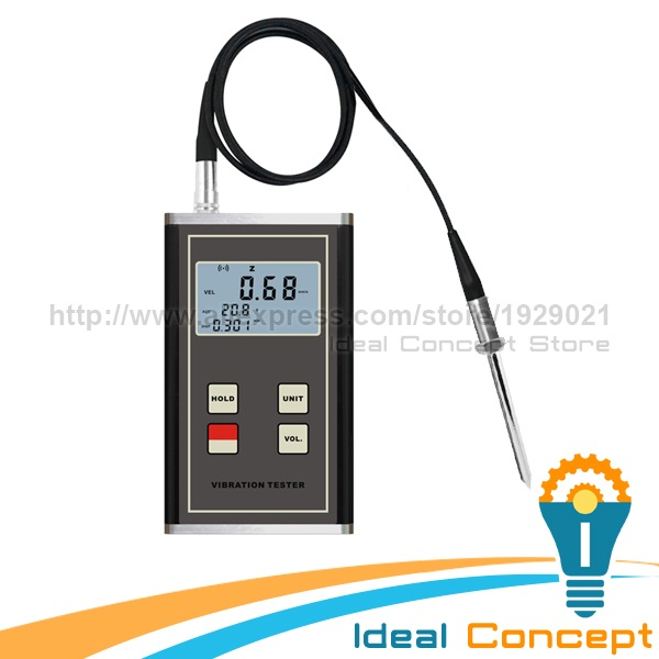 Vibration Meter Displacement Acceleration Piezoelectric Transducer Digital LCD Display Velocity Acceleration Tester