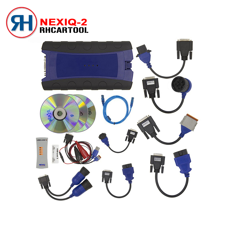 Цена за Грузовик Укладки NEXIQ 2 USB Link Дизель Грузовик Диагностический Инструмент Со полный Набор NEXIQ2 USB Link С Программным Обеспечением Heavy duty truck сканер