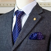 Dots Navy Blue White Men S Ties Neckties 100 Silk Jacquard Woven 2015 New Arrival Casual