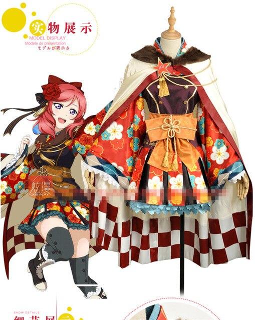 9e331f02a love live NISHIKINO MAKI Taisho kimono awakening cosplay costume Halloween  anime dress free shipping