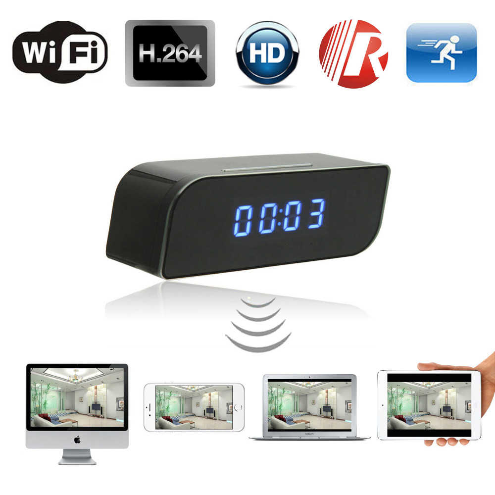 Micro Wifi IP Camera HD 1080P Clock Mini Camcorder Wireless Video Recorder Security Digital Cam Motion Detection Sensor hidden T