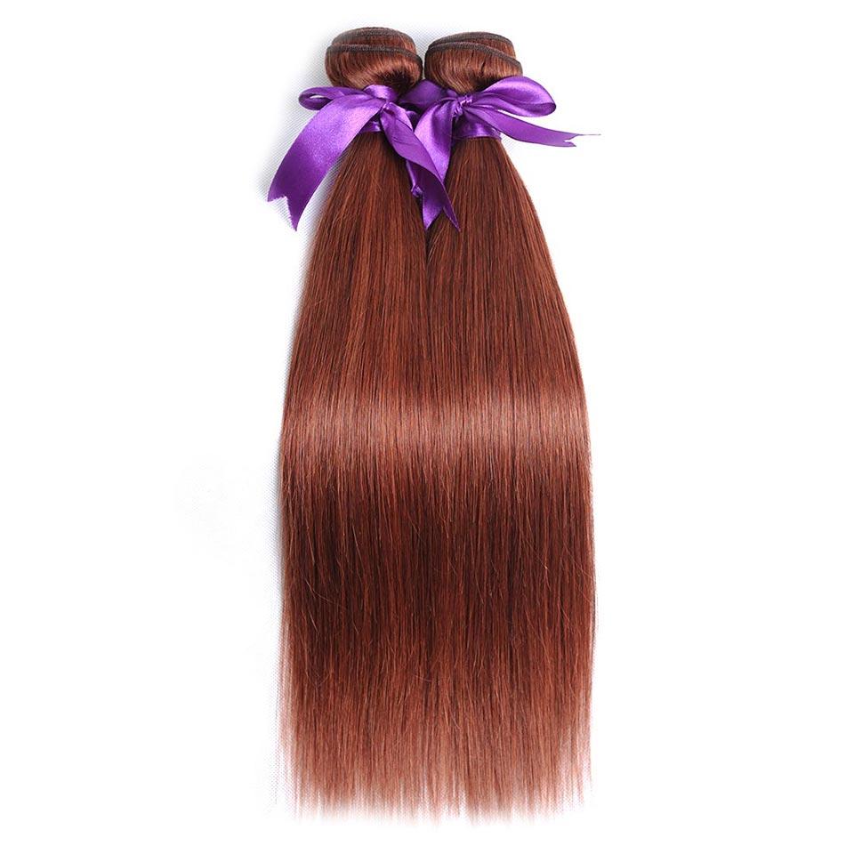 Echthaarverlängerungen Honig Blonde Bundles Farbige 27 Gerade Menschliche Haarwebart Bundles Blonde Peruanische Haar Verlängerung Glänzende Stern Dicke Schuss Nonremy Haarverlängerung Und Perücken