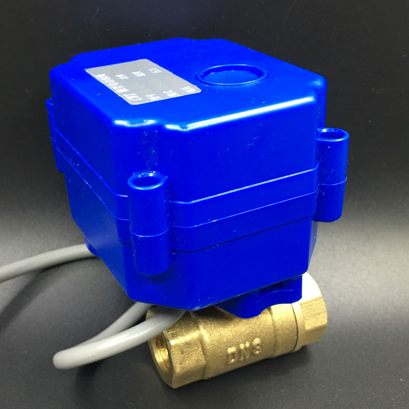 все цены на  12VDC 2-Way BSP 1/4'' Brass Motorized Ball Valve 2/3/5 Wires Open/Close 3 Sec CE Approved No Leak DN8 Electric Shut Off Valve  онлайн
