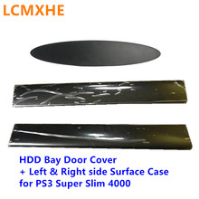 Hard Drive Bottom HDD Bay Cover Left Right Faceplate Surface Panel Case shell door for PS3 Super Slim 4000 4012 Console Housing