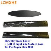 하드 드라이브 하단 hdd 베이 커버 왼쪽 오른쪽 페이스 플레이트 표면 패널 케이스 쉘 도어 ps3 용 슈퍼 슬림 4000 4012 콘솔 하우징