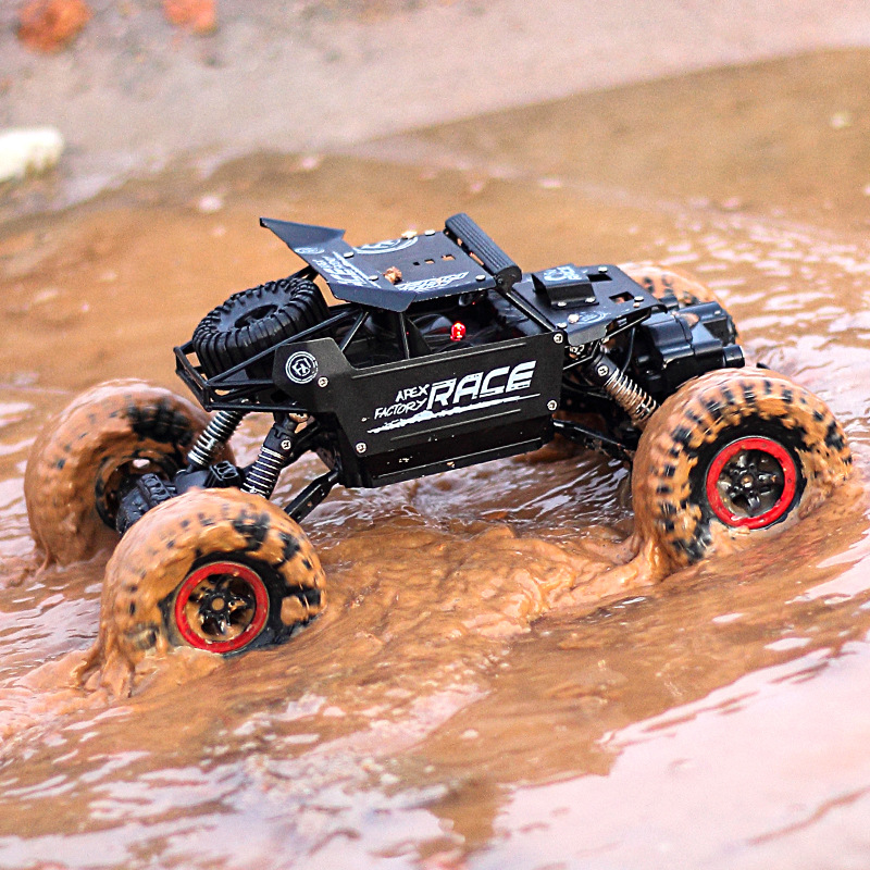 <font><b>RC</b></font> <font><b>Cars</b></font> 4WD Double <font><b>Motors</b></font> Drive 2.4G Electric Radio Remote Control Off-Road Climbing Bigfoot <font><b>Car</b></font> Kid Gift Toys for Boy image